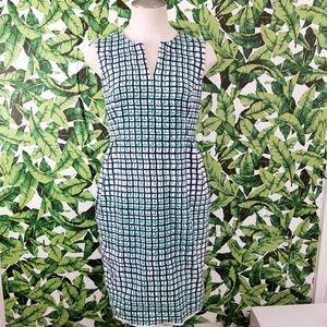Kate Spade Grid Print Sheath Dress